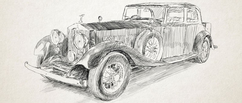 how to draw old_car